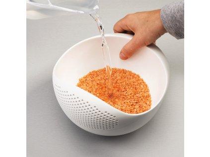 Prep&Serve™ tál szűrővel, nagy, zöld