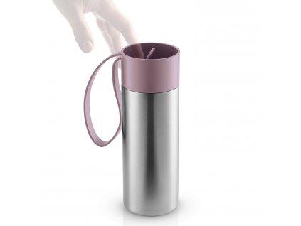 To Go thermo bögre, mályvavirágszínű pánttal, 0,35 liter, rozsdamentes acél, Eva Solo