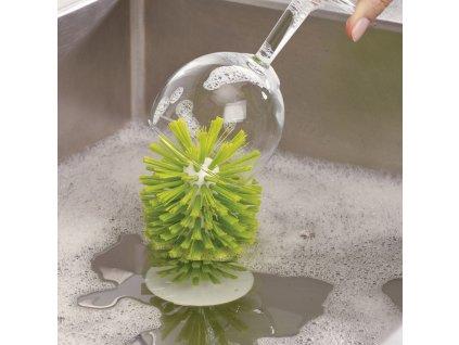 Brush-Up™ tapadókorongos edénysúroló kefe, zöld