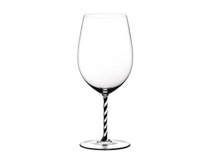 Bordeaux Grand Cru Black and White Twisted Fatto a Mano kristály borospohár