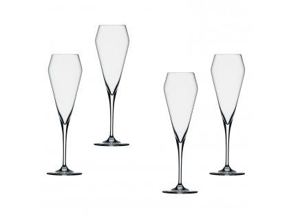 Willsberger Anniversary kristály pezsgőspohár szett, 4 db