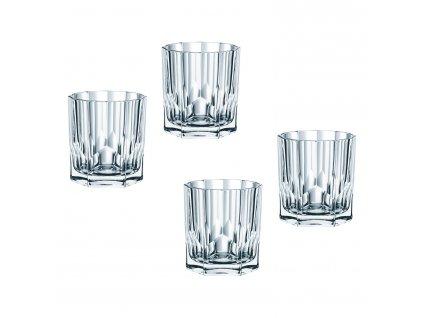 Aspen whiskys kristálypohár készlet, 4 részes
