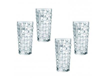 Bossa Nova kristálypohár készlet long drinkhez, 4 részes
