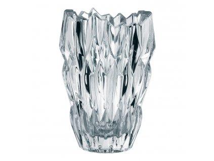 Quartz Oval kristályváza, 16 cm