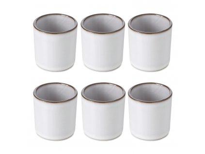 White Cumulus CARACTERE pohár ajándék szett, 6 db, fehér