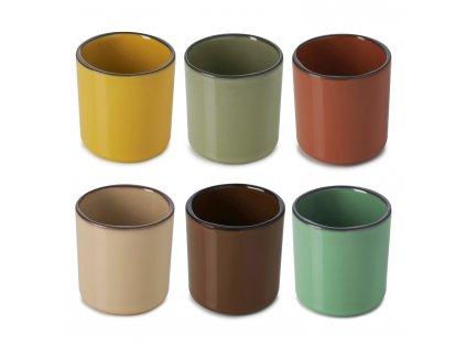 CARACTERE pohár ajándék szett, 6 db, mix színek