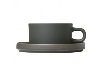 Mio teás csésze szett 2 db csésze kistányérral, khaki 0,17 l