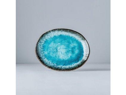 Sky Blue ovális tányér, 18cm