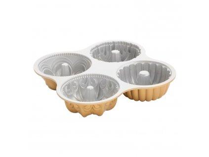 Quartet Bundt® kis kuglófsütő forma, 4 adagos, arany