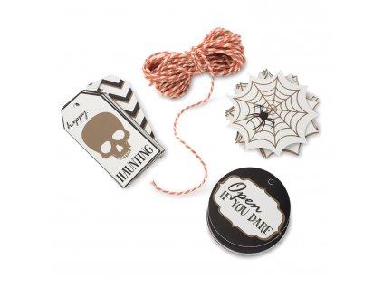 Seasonally Sweet Halloween zsinóros papírcímke, 12 db