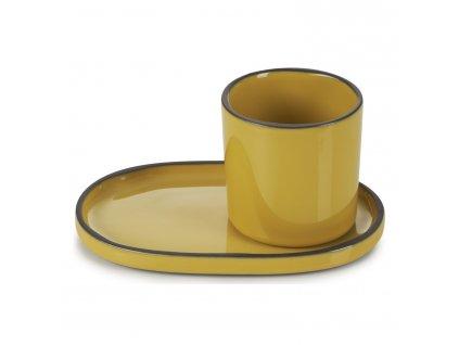 Tumeric CARACTERE kávés/ teás pohár, curry színű