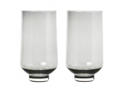 2 db-os pohár szett FLOW füstös üveg 0,4 l