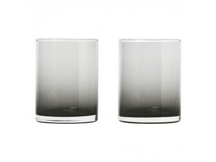 2 db pohár szett MERA füstös üveg 0, 22 l