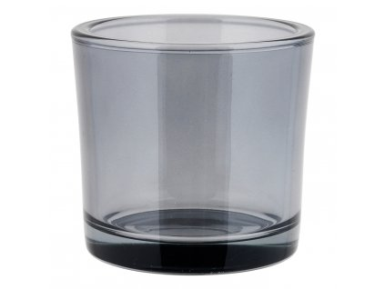 Közepes gyertyatartó NERO füstös üveg