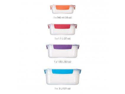 Nest™ Lock 4 kompakt tárolóedény készlet, Multi-colour