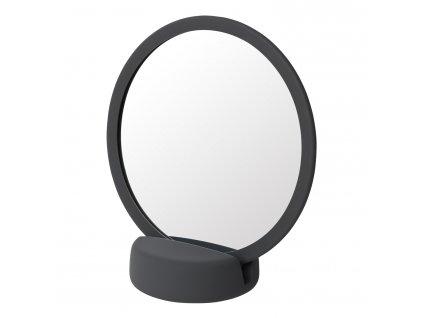 Kozmetikai asztali tükör SONO szürkés-fekete