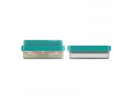 GoEat™ ételhordó doboz, 500 / 700 ml, kékeszöld