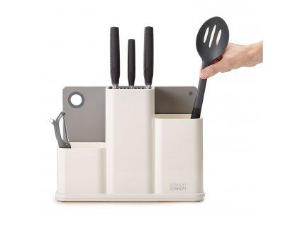 CounterStore™fehér  konyhai eszköztartó doboz, késblokk, vágódeszka