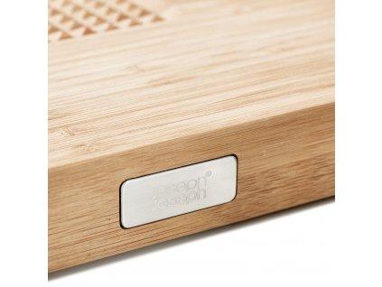 Cut&Carve™ Plus bambusz vágódeszka csúszásgátló sávval, nagy