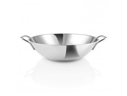 Rozsdamentes acél wok serpenyő  Ø 32 cm