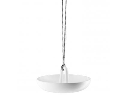 Függő madáretető -és itató fehér