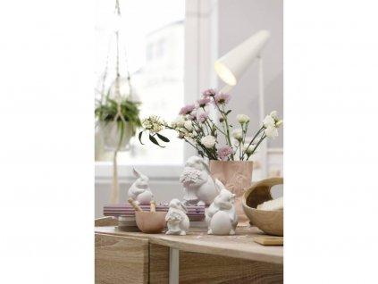 Porcelán nyúl tojással Rabbit Collection Rosenthal fehér 10 cm