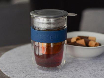 Teás pohár Seev Boddels sötétkék 380 ml