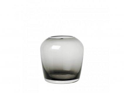 Váza Leta Blomus átlátszó közepes méretű füstös 13 cm