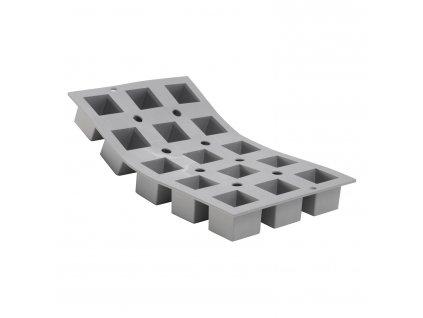 Elastomoule® professzionális szilikon sütőforma, 15 db mini kocka sütéséhez
