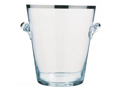 Pezsgőhűtő üvegedény platina peremmel