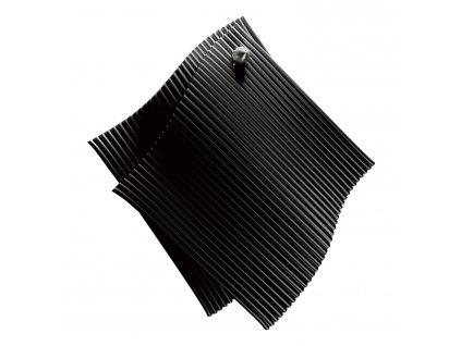 Szilikon edényfogók, akasztóval, fekete színben