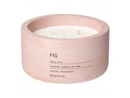 Illatgyertya szójaviaszból FRAGA világos rózsaszín Ø 13 cm