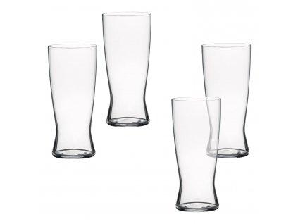 Beer Classics kristály söröspohár szett, 4 db, Lager