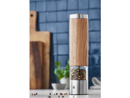Elektromos só-/borsdaráló, fa résszel