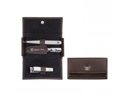ZWILLING® Classic Inox manikűrkészlet körömcsipesszel, 3 részes, barna