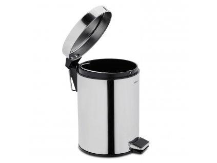 NEXIO fürdőszobai szemétkosár, fényes rozsdamentes acél, 2,5 liter