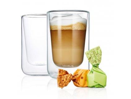 Cappuccino hőálló üvegcsésze szett 250 ml NERO Blomus