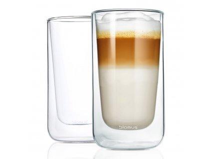 Café latte hőálló üvegcsésze szett NERO 320 ml Blomus