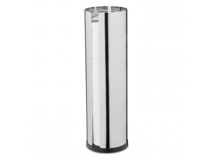 NEXIO toalettpapírtartó állvány 4 tekercshez, fényes rozsdamentes acél