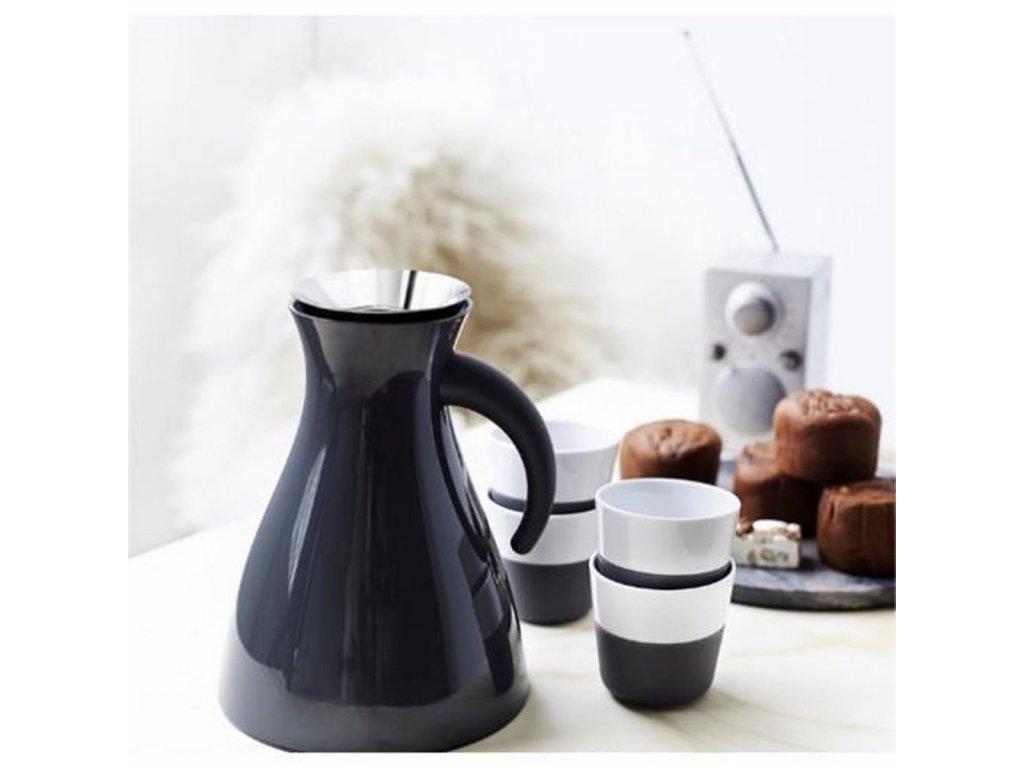 Filiżanki termiczne do espresso 80 ml 2 sztuki szare