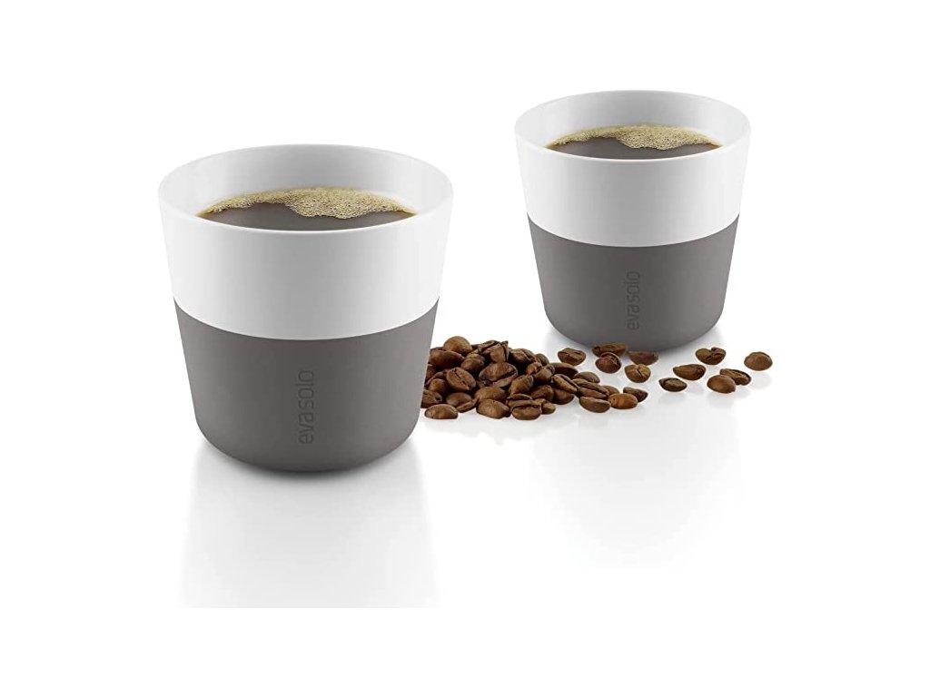 Kubki termiczne do kawy Lungo 230 ml 2 sztuki szare