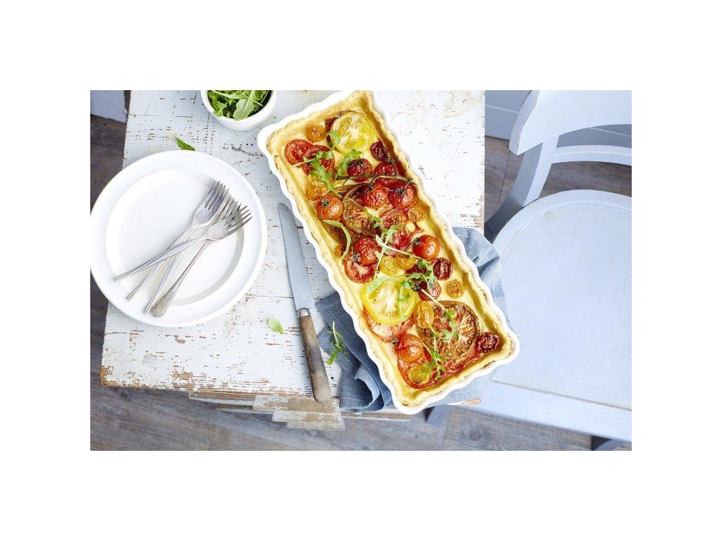 Prostokątna forma do ciasta Burgundy czerwona 15 × 36 cm Emile Henry