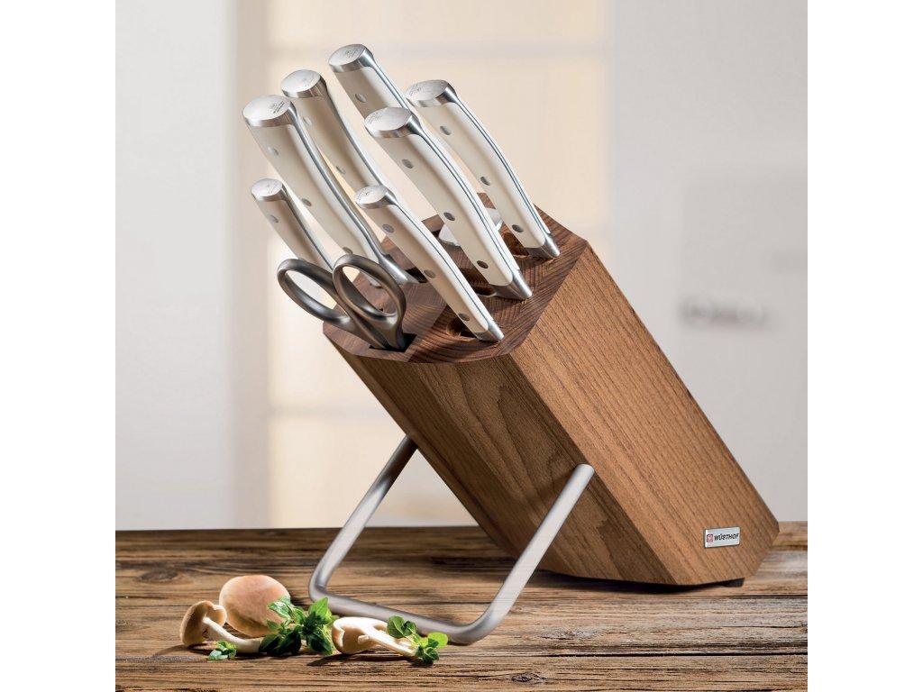 Zestaw noży z blokiem, z temperówką i nożyczki 9dílná Klasyczny Ikona krem WÜSTHOF