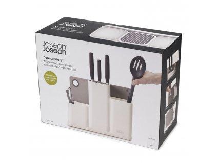 Pojemnik na przybory kuchenne i noże z deseczką biały CounterStore™