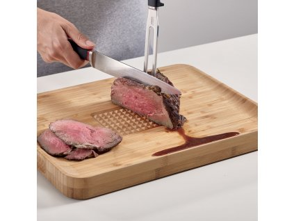 Bambusowe deska do krojenia z projekcjami Cut&Carve™ Plus duże Joseph Joseph