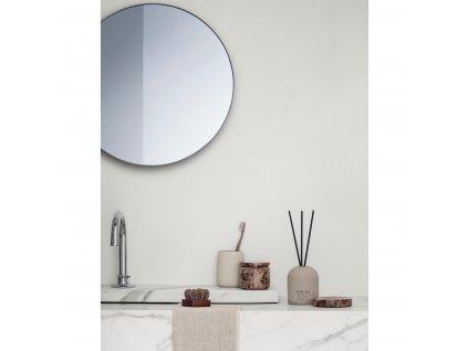 Lustro okrągłe RIM jasnobrązowe