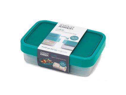 Lunch box 500/700 ml niebiesko-zielony GoEat™ Joseph Joseph