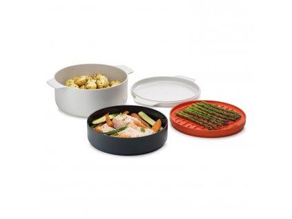 4dílná zestaw naczynia do gotowania w kuchence mikrofalowej piekarnik M-Cuisine™ Joseph Joseph
