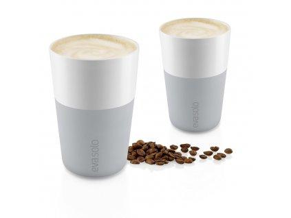 Kubki termiczne do café latte 360 ml 2 sztuki jasnoszare