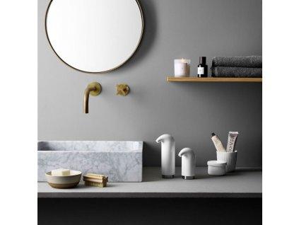 Komplet dozowników do mydła i kremu w płynie biały 2 sztuki